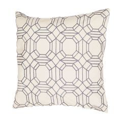 Modena is a cotton based pillow embroidered with geometric designs.  add to a  bed or side chair for a great accent.