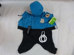 Halloween Dog Costume Police Officer With Hat Hand Cuffs & Night Stick New Tags #PeerlessPet