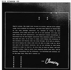 Possibly the last letter from Clancy. Twenty One pilots is coming back! From the Dema website. Tower Of Silence, Twenty One Pilots Albums, Twenty One Pilots Aesthetic, Message Man, Slam Poetry, Screamo, Smol Bean, Happy Birthday To Us, Music Theory