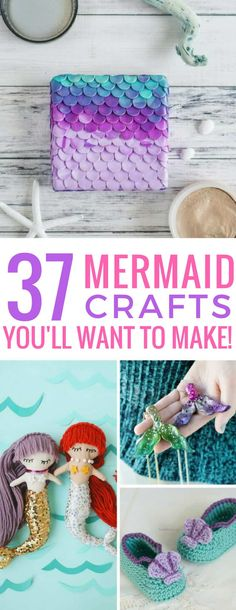 37 Fabulous DIY Mermaid Crafts to Make You Feel Like You're Under the Sea Loving these DIY mermaid crafts – especially those baby booties! The post 37 Fabulous DIY Mermaid Crafts to Make You Feel Like You're Under the Sea appeared first on Best Shared. Crafts For Teens To Make, Crafts To Sell, Easy Crafts, Diy And Crafts, Arts And Crafts, Sell Diy, Kids Diy, Decor Crafts, Disney Diy Crafts