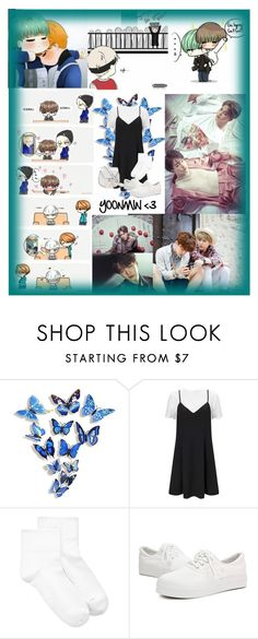 """YOOMIN <3"" by koreanclothes ❤ liked on Polyvore featuring WALL, Miss Selfridge, Hue and Yoki"