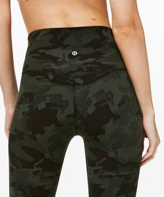 lululemon Women's Align Crop Incognito Camo Multi Gator Green, Size 10 - NailArts Womens Workout Outfits, Sporty Outfits, Athletic Outfits, Cute Outfits, Athletic Clothes, Lulu Lemon, Workout Attire, Workout Wear, Workout Tanks