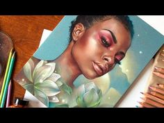 Indikos time-lapse drawing with voice over. Trying Sennelier Pastel card - YouTube