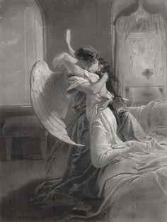 """Mihaly von Zichy (1827-1906), """"Romantic Encounter"""""""