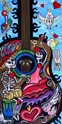 Rise to the occassion day of the dead art by melody smith etsy how to throw a day of the dead party that won t kill your budget Comic Cat, Day Of Dead, Mexico Day Of The Dead, Day Of The Dead Artwork, Pop Art, Mexico Art, Chicano Art, Chicano Tattoos, Yakuza Tattoo