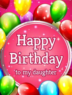 Send Free Lovely Daisy Happy Birthday Wishes Card for Daughter to Loved Ones on Birthday & Greeting Cards by Davia. It's free, and you also can use your own customized birthday calendar and birthday reminders. Birthday Greetings For Aunt, Happy Birthday Quotes For Daughter, Happy 13th Birthday, Best Birthday Quotes, Happy Birthday Wishes Cards, Birthday Blessings, Happy Birthday Balloons, Happy Birthday Images, Birthday Greeting Cards