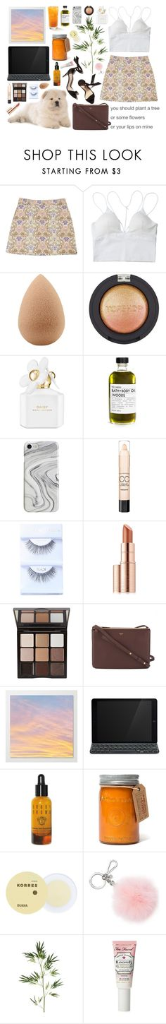 """8:50pm"" by shelbyox ❤ liked on Polyvore featuring beautyblender, Topshop, Marc Jacobs, Recover, Nexus, Max Factor, Estée Lauder, Trish McEvoy, MANGO and CÉLINE"