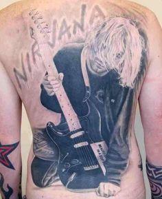 Best 45 Kurt Cobain Tattoos from Kurt Cobain fans  Continue to Next Page   source: