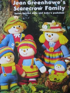 Jean Greenhowe's scarecrow family knitting pattern booklet dated 1988