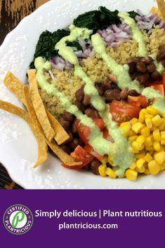 Quinoa-Kale bowl - Straight Up Food Kale Recipes, Whole Food Recipes, Diet Recipes, Vegan Recipes, Plant Based Whole Foods, Plant Based Diet, Plant Based Recipes, Whole Food Diet, How To Cook Quinoa