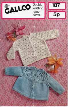 Baby matinee coat matinee coat lacy cardigan patterned yoke detail 18 20 inch DK baby knitting patterns for babies pdf digital download