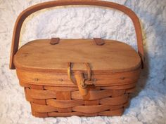Longaberger basket with leather straps by FlippSisters