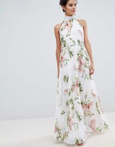 3dd2c70081 Ted Baker pleated maxi dress in harmony floral print at asos.com