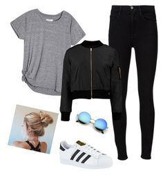 """""""confy gray"""" by andy-ag on Polyvore featuring Frame Denim and adidas"""