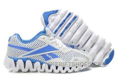 Reebok Zig FUEL Womens White Blue For Sale N8N8p eec3127fc