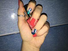 Tropical fresh summer nails -2016