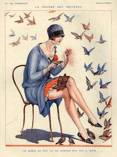 France La Vie Parisienne Magazine Art Print by The Advertising Archives. All prints are professionally printed, packaged, and shipped within 3 - 4 business days. Art Deco Illustration, Magazine Illustration, Art Quotidien, Advertising Archives, Art Deco Stil, Retro Poster, Retro Mode, Art Deco Posters, Vintage Artwork