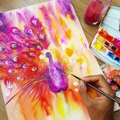 WANT A FREE FEATURE ?  1) like and comment on this photo  2) follow @zbynekkysela  3) CLICK link in my profile   Happy instagramming!   #art #freeshoutouts #shoutout #feature #shoutouts   Repost from @jongkie  Still have plenty time before my return flight to Malang. Let's finish this Peacock . #watercolor #watercolours #watercolour #illustration #painting #artwork by #jongkie #wip #peacock via http://instagram.com/zbynekkysela