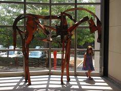 Deborah Butterfield sculpture - Peabody Essex Museum, Salem, MA