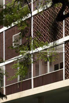 Three buildings at guinle park, Lucio Costa, Rio de Janeiro, BR; Photo: Leonardo Finotti