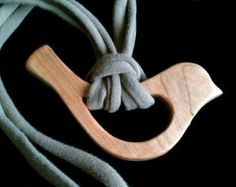 nursing necklace cotton cord for wooden by MotherEarthsWoodwork