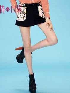 vintage floral print shorts $54  #asianicandy #chicstyle #indiefashion #elfsack