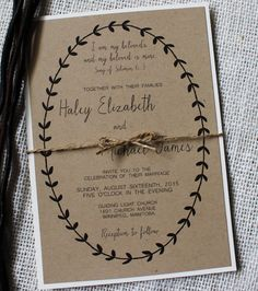 Simple Rustic Wedding Invitation, Modern Design, this Rustic Modern Wedding Invitation is the perfect mix of Modern and rustic. These handmade
