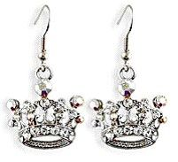 Crystal Crown Earrings, fit for a QUEEN :)