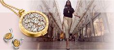 My iMenso | medaillon en collier medaillon goud plated 33 mm €105 | fantasie insignia 33mm zirkonia €105 | spiegel glas goud getint €12 | collier 92 cm goud plated €40 | 27-0038 / 33-0074 / 33-1117 / 33-1071 #myimenso #medaillon #sieraad #JDBW