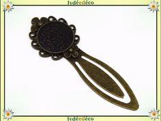 Marque-pages résine rétro vintage libellules noir marron bleu laiton bronze diamètre 20mm