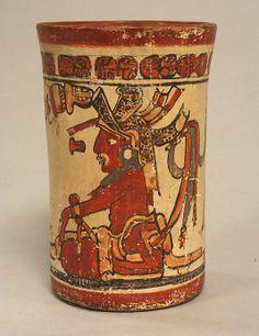 Vessel, Palace Scene  Date:     7th–8th century Geography:     Mexico, Mesoamerica, Yucatan Culture:     Maya Medium:     Ceramic