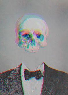 Skull in a Suit, illustration. Glitch Art, Arte Punk, Foto 3d, Pink Lila, Whatsapp Wallpaper, Psy Art, Art Graphique, Skull And Bones, Psychedelic Art
