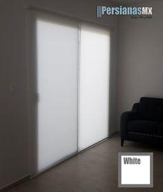 Persiana Enrollable Traslucida Color Blanco Decor