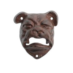 Wall Mounted Bottle Opener British Bull Dog Cast Iron Garden Home Bar Home Bars For Sale, Animal Garden Ornaments, Cast Iron, It Cast, Outside Bars, Wall Mounted Bottle Opener, Garden Decor Items, Animal Design, Traditional Design