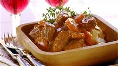 Mustard, Beef and Red Wine Stew