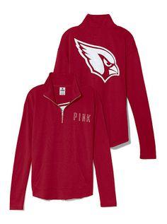VS PINK Arizona Cardinals Bling Half Zip Pullover