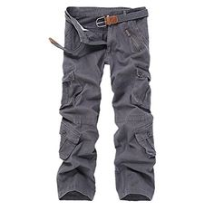 desolateness Mens Cotton Linen Pants Summer Casual Elastic Waist Loose Fit Work Drawstring Cargo Trousers