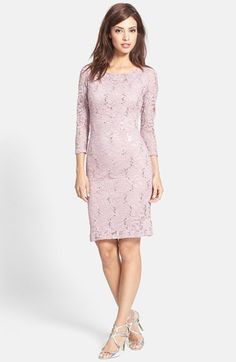 Marina Embellished Stretch Lace Sheath Dress (Regular & Petite) | Nordstrom