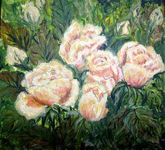 GALERIA PALOMO MARIA LUISA: ROSAS COLOR TE..... Painting, Art, Painted Flowers, Roses, Colors, Art Background, Painting Art, Kunst, Paintings