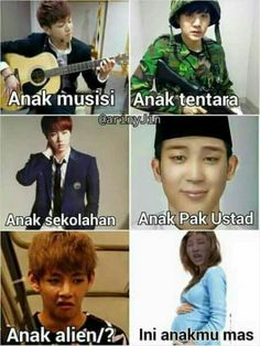 Read 13 from the story BTS MEME & BTS Salah Gaul by (Hanse) with reads. Memes Funny Faces, Funny Kpop Memes, Dankest Memes, K Meme, Meme Comics, Good Jokes, Bulletproof Boy Scouts, My Idol, Funny Pictures