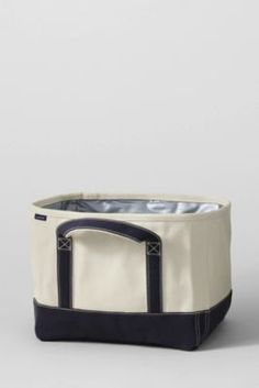 Lands End Canvas Cooler.  A perfect tote for transporting food just about anywhere you need to.  Canvas features a leakproof plastic liner, so you can fill it with ice or other cooler items to make transporting your meal simpler.  #TakeThemAMeal.com