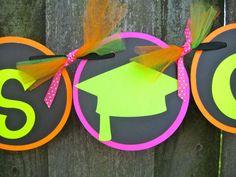 Graduation Party Banner ideas      Congrats Grad  Neon Colors by ElegantEvee, $30.00