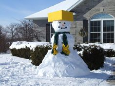 Green Bay Packers Snowman
