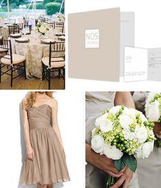 Beige, minimalista, elegante: Invitaciones de Boda Dream