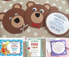 Teddy Bear Picnic Invite
