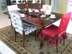 Here are a few Chair Suits® by June Smith Design.  If you can't decide on just one style for your space, don't be afraid to mix and match multiple styles and colors for a beautiful and eclectic designer look.  Each set is custom made to fit your chair.