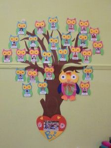 30 Classroom decorating ideas - Aluno On Owl Classroom, Preschool Classroom, Classroom Decor, Preschool Activities, Flower Crafts Kids, Fish Crafts, Diy And Crafts, Crafts For Kids, Attendance Chart