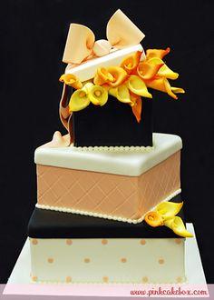Gift Box Bow Wedding Cake
