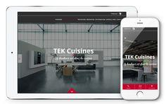 TEK Cuisines fait confiance à l'agence Web4 pour la création de son nouveau site internet www.tekcuisines.ch en ligne maintenant! Site Internet, Creations, Design, Confidence, Fishing Line