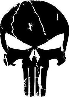 Punisher Logo, Punisher Marvel, Punisher Tattoo, Punisher Skull Decal, Ms Marvel, Captain Marvel, Marvel Comics, Skull Stencil, Skull Art